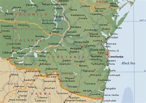Constanta County Geographic Map