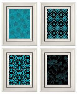 Furniture unique teal wall art related items etsy