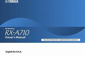 Yamaha Rx A710 Manual  Usa