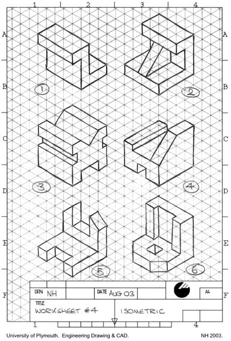 17 best ideas about isometric drawing exercises on