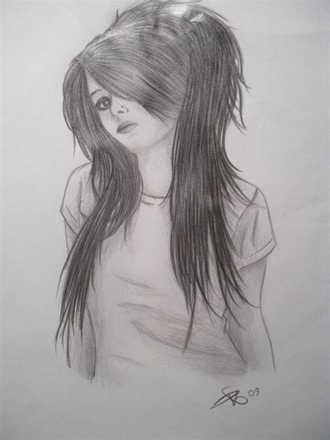 pin  olivia watkins  emo sketches pencil drawings