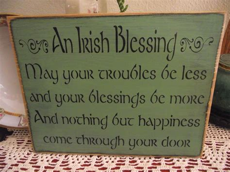 Blessings Home Decor: AN IRISH BLESSING Primitive Wood Sign