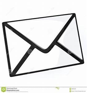 Lettera Simbolo Del Email 3d Illustrazione Di Stock
