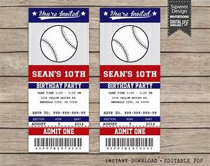 baseball invitations baseball ticket invitations sport With sports ticket template free download