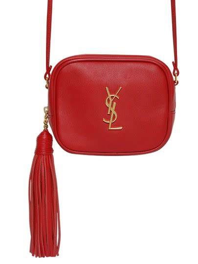 saint laurent monogram blogger ysl camera tassel red