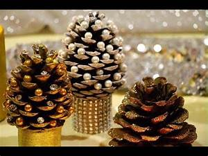 DIY Pine cone Christmas Trees Miniature Christmas Tree