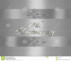 25th wedding anniversary invitation stock illustration With 25 year wedding anniversary invitations