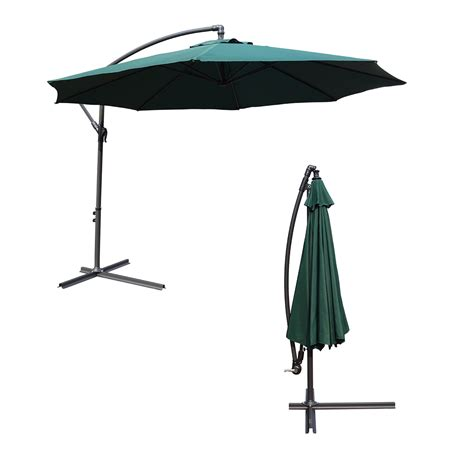 garden outdoor 3m large green parasol patio canopy