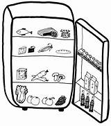 Fridge Clipart Open Refrigerator Clip Cliparts Drawing Freezer Milk Empty Mini Midea Library Getdrawings sketch template