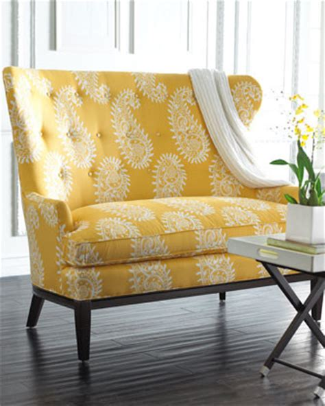 Paisley Settee paisley settee traditional sofas by horchow