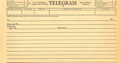 blank telegram template miscellanies gallimaufries
