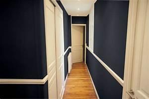 caroline je cherche a repeindre mon couloir cote maison With peindre un couloir en 2 couleurs 4 avis couleur couloir