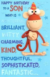 Cute Wonderful Son Happy Birthday Greeting Card | Cards ...