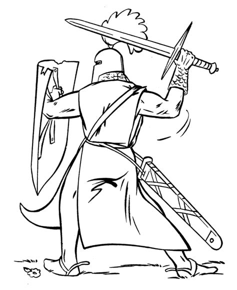 medieval knights coloring page medievalrenaissance
