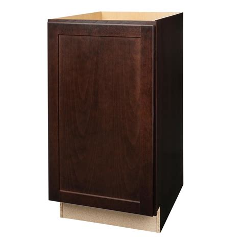 pull out her cabinet hton bay shaker assembled 18x34 5x24 in pull out trash