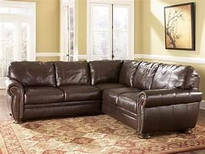 Palmer walnut sectional sofa ashley furniture 2050067 for L sectionals couch ashley furniture