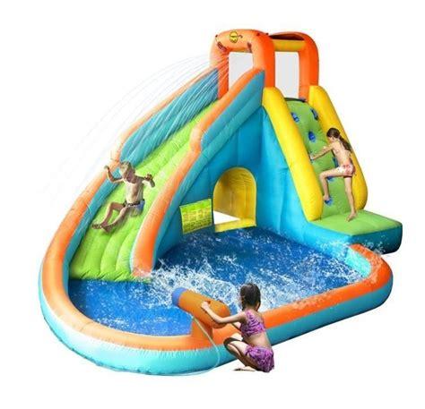 happy hop ch 226 teau aire de jeux gonflable aquatique avec piscine jurbj9117n jardin piscine