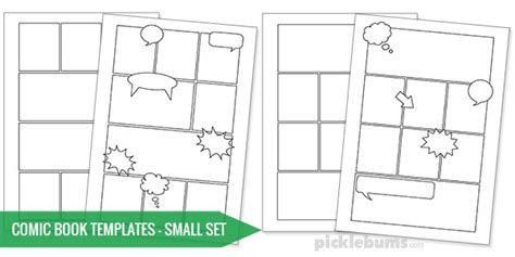 comic template pdf free printable comic book templates picklebums