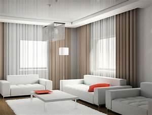 Rideaux Salon Decoration : doubles rideaux id es modernes pour d corer l 39 int rieur ~ Preciouscoupons.com Idées de Décoration