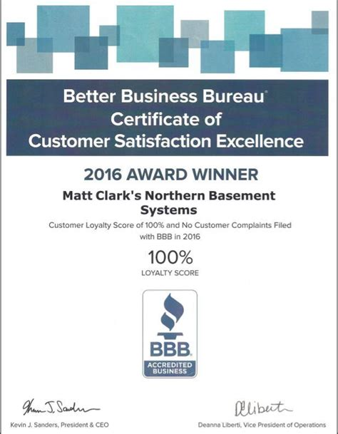 customer bureau better business bureau certificate of customer