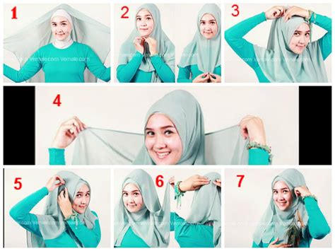tutorial hijab segi empat  ciput tutorial hijab segi empat hijab tutorial pinterest