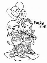 Coloring Strawberry Shortcake Fun sketch template