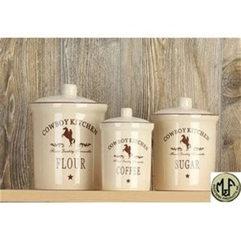 M Western Canister Set  Cowboy Kitchen Western