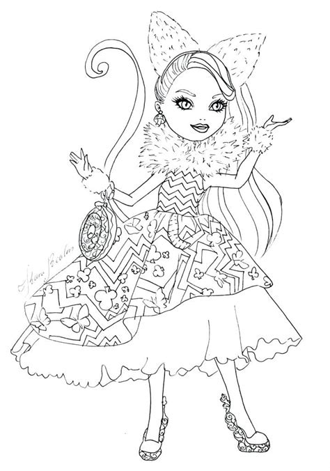 high lizzie hearts coloring pages
