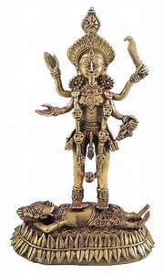 Goddess Kali Brass Dhokra Statue 7 5 X 4 5 X 3 Inches