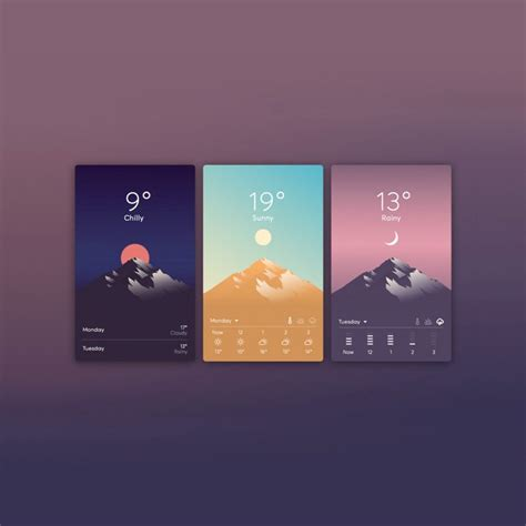 examples  playful weather app uis
