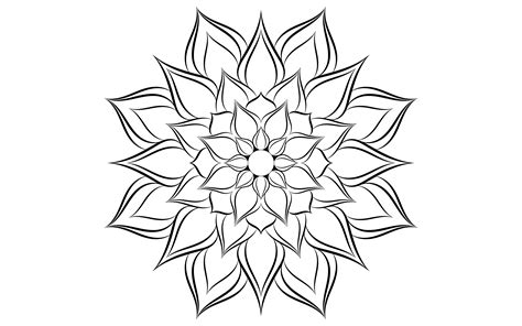 If you like this free svg, please share it on pinterest! Black and white floral simple mandala pattern - Download ...