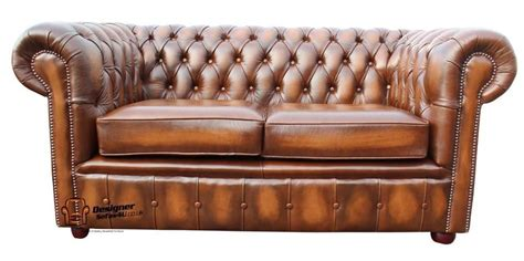 Settees Ebay by Brand New Chesterfield 2 Seater Antique Real Leather