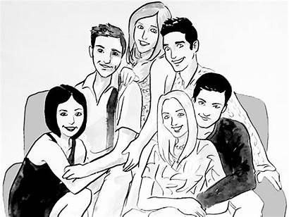 Friends Episodes Sitcom Key