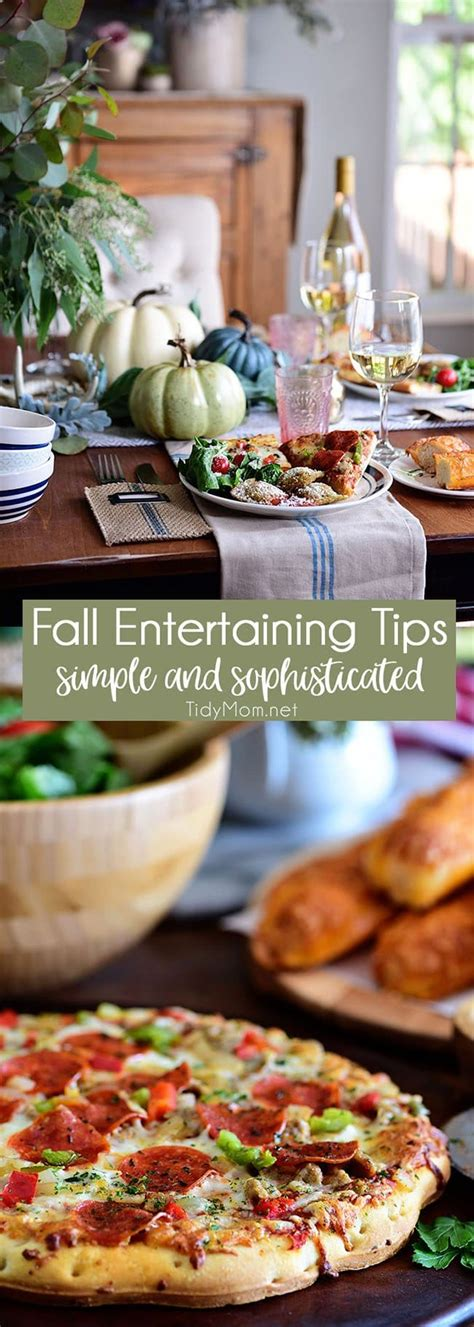 Fall Entertaining Simple And Elegant Tidymom®