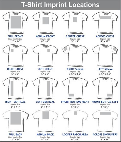 best size for a logo template image result for design size on front and back of shirts