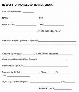 12 new hire processing forms hr templates free With payroll correction form template
