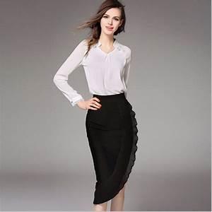 2 piece set women skirts and blouses 2016 Fall chiffon Lace blouse irregular skirt suits set ...