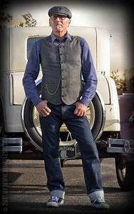 Style Rockabilly Homme : rumble59 vintage weste atlantic city fischgrat grau schwarz look homme mens fashion ~ Dode.kayakingforconservation.com Idées de Décoration