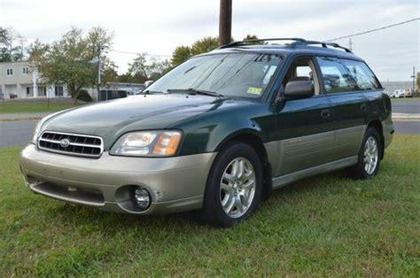 outback subaru green buy used 2002 green subaru legacy outback wagon awd 2 5l