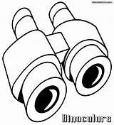 Coloring Refrigerator Binoculars sketch template