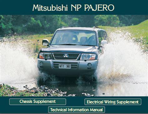 automotive service manuals 2002 mitsubishi pajero navigation system mitsubishi pajero 2002 workshop service repair manual fuel economy