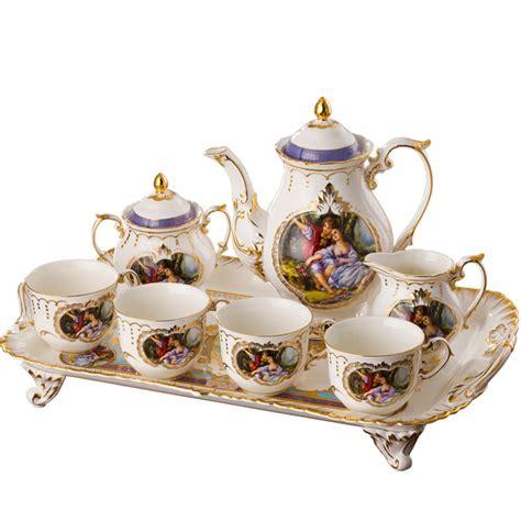white coffee set fashion bone china tea set luxury gift