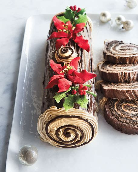 frosted art bakery buche de noel cake    people