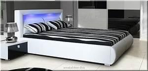 Bett Mit Led : schlafzimmer komplett hochglanz weiss schwarz schrank bett mit led 2 nako ebay ~ Orissabook.com Haus und Dekorationen