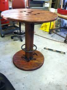 items similar to high bar top cable spool table on etsy