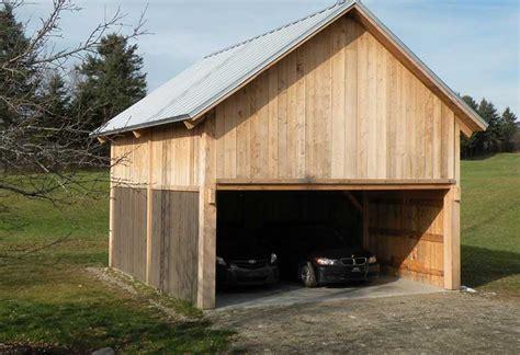 garage bois adosse maison prix de construction d un garage en bois