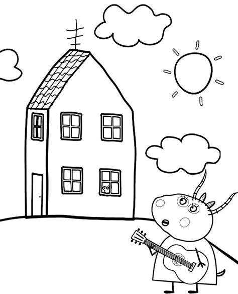 Madame Gazelle printable coloring page for children