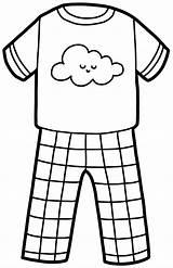 Coloring Pajamas Printable sketch template