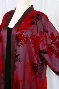 Plus Size Special Occasion Kimono Red Burgundy Teal Silk