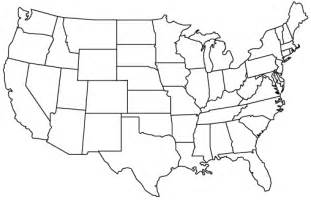 Blank US Maps United States